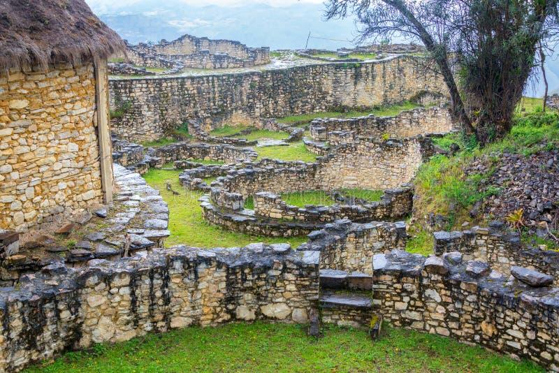 Vista di Kuelap, Perù fotografia stock libera da diritti