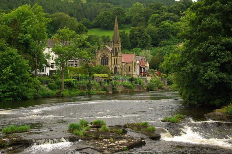 Vista di Llangollen, Regno Unito fotografia stock libera da diritti