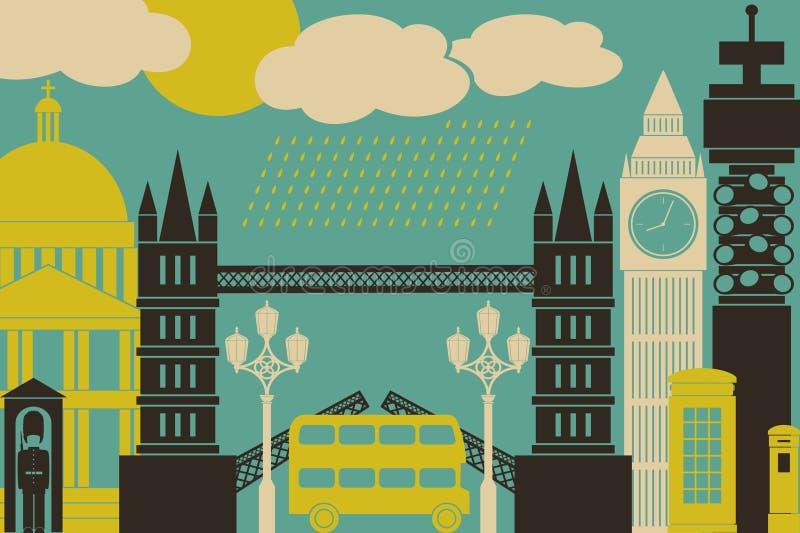 Vista di Londra royalty illustrazione gratis