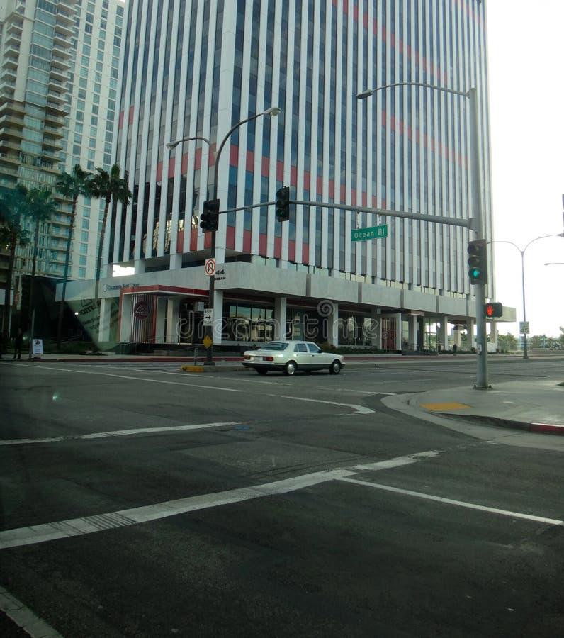 Vista di Long Beach del centro, Los Angeles, California U.S.A. fotografia stock