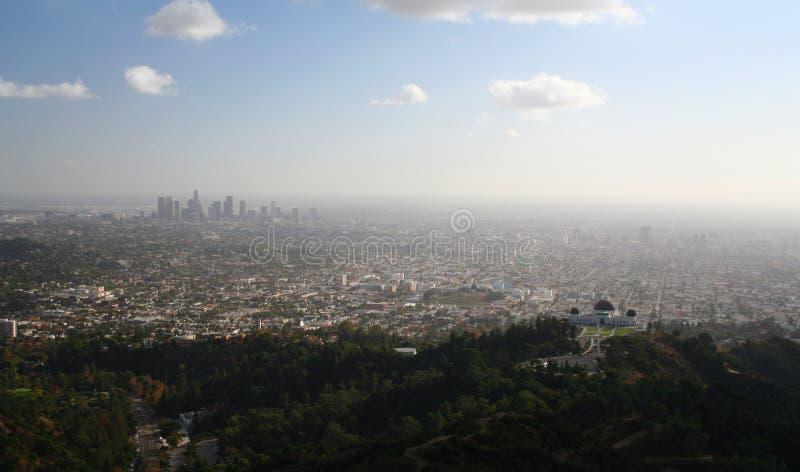 Vista di Los Angeles del centro fotografia stock libera da diritti
