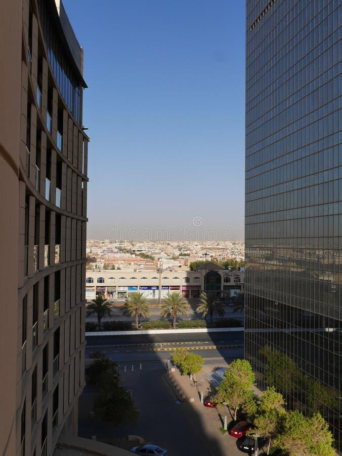 Vista di luce del giorno della città di Riyad fotografia stock