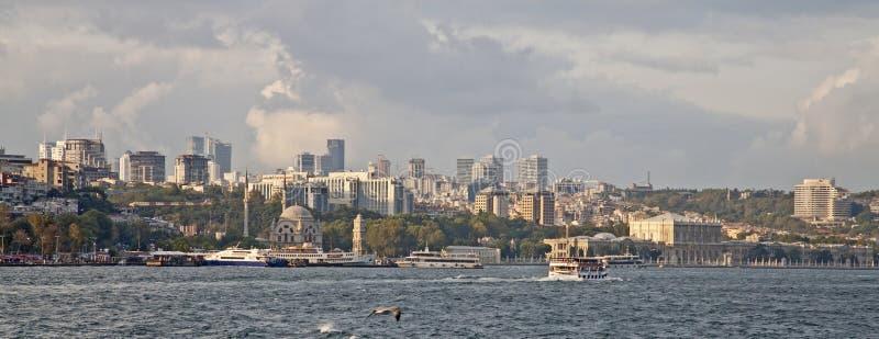 Vista di lungomare di Costantinopoli Turchia immagini stock libere da diritti