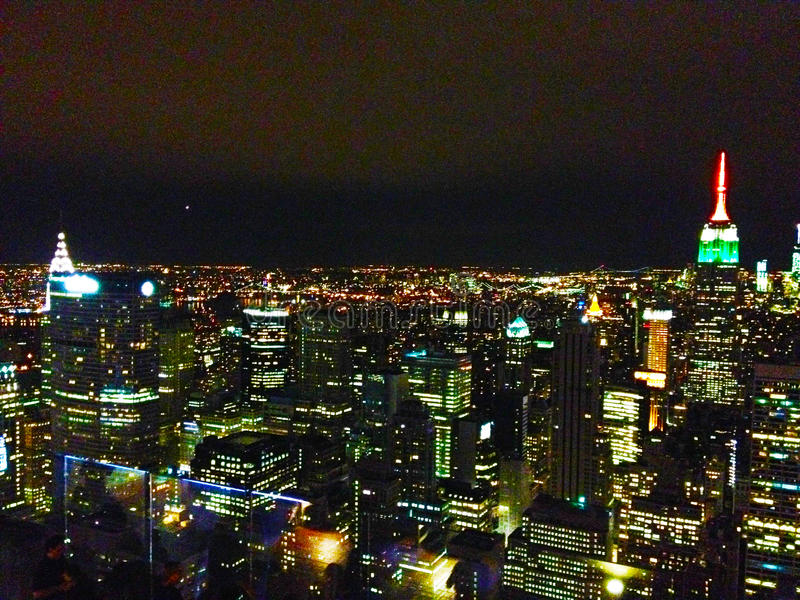 Vista di Manhattan dal centro di rockefeller fotografia stock