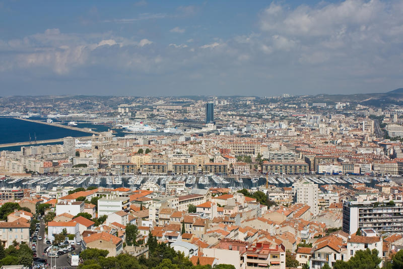 Vista di Marsiglia immagine stock libera da diritti