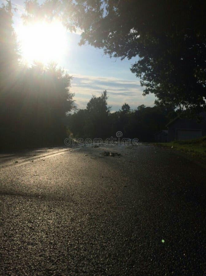 Vista di mattina dalla via fotografie stock