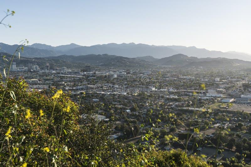 Vista di mattina di Glendale California fotografie stock libere da diritti