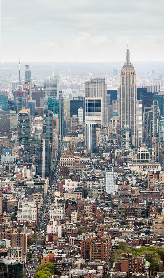 Vista di Midtown di New York Manhattan immagini stock libere da diritti