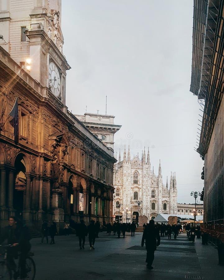 Vista di Milano del duomo immagini stock libere da diritti