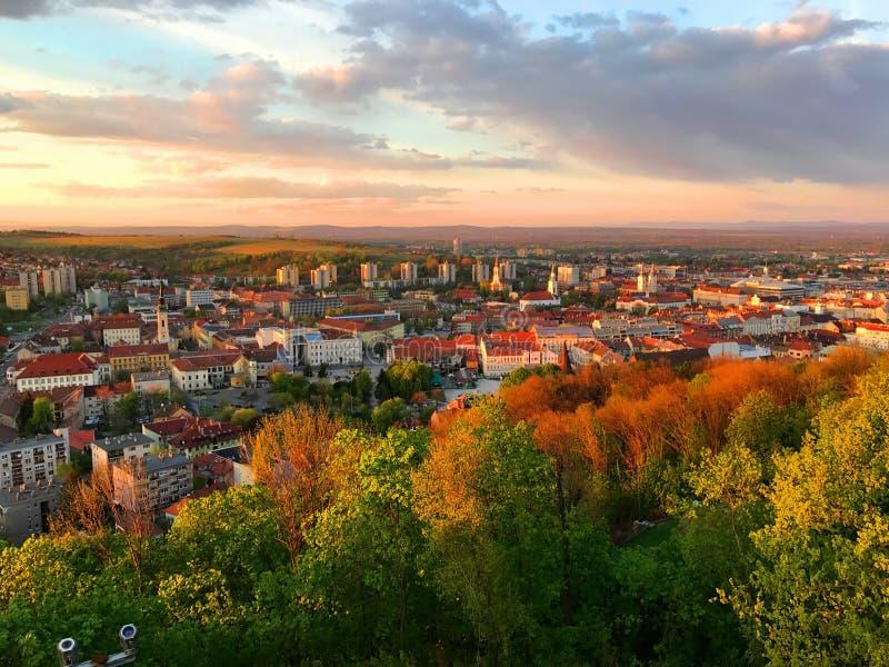 Vista di Miskolc, Ungheria immagini stock libere da diritti