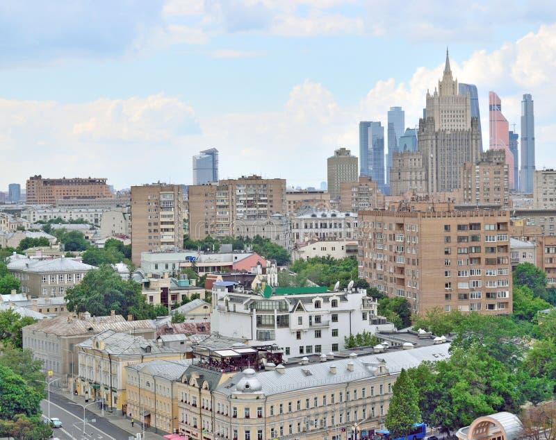 Vista di Mosca dalla veduta panoramica immagine stock libera da diritti