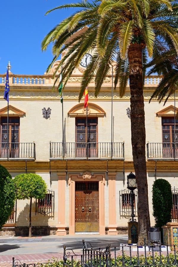 Vista di municipio, Ayamonte immagine stock libera da diritti