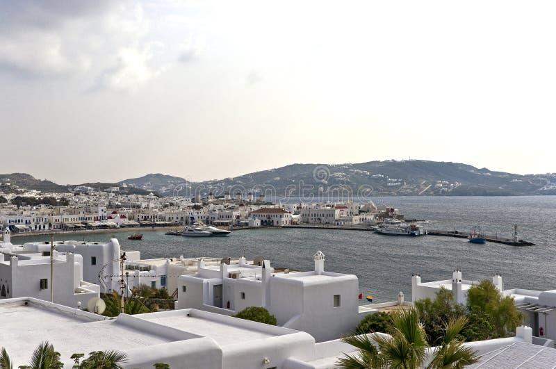 Vista di Mykonos fotografia stock libera da diritti