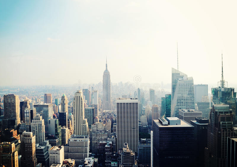 Vista di New York City con Empire State Building fotografia stock