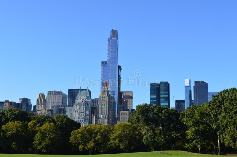 Vista di New York City dal Central Park fotografia stock libera da diritti
