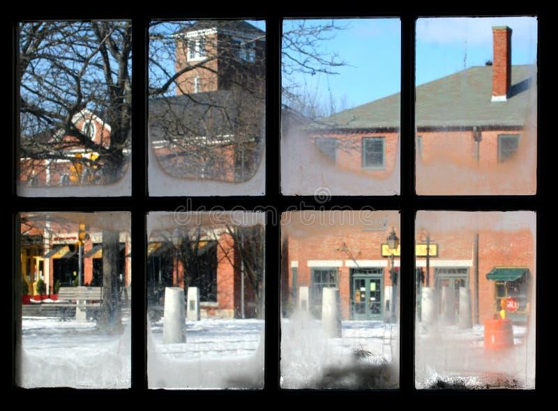 Vista di Newburyport, mA della finestra fotografia stock libera da diritti