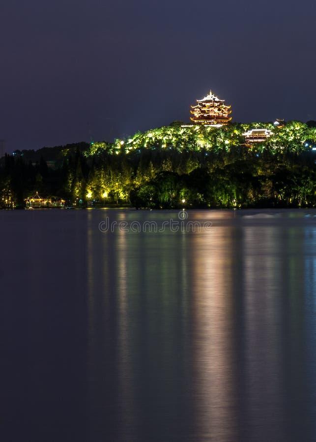 Vista di notte del lago ad ovest immagine stock libera da diritti