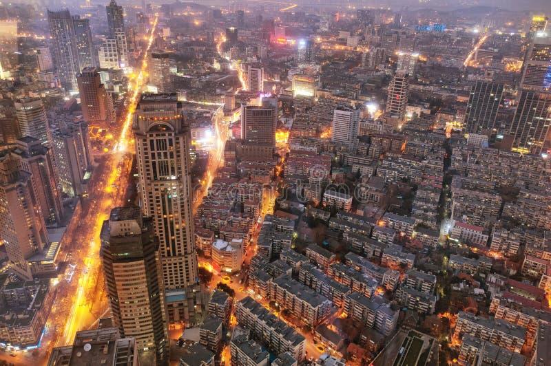 Vista di notte della porcellana di Nanchino fotografia stock libera da diritti