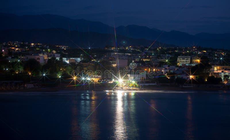 Vista di notte della spiaggia immagine stock libera da diritti