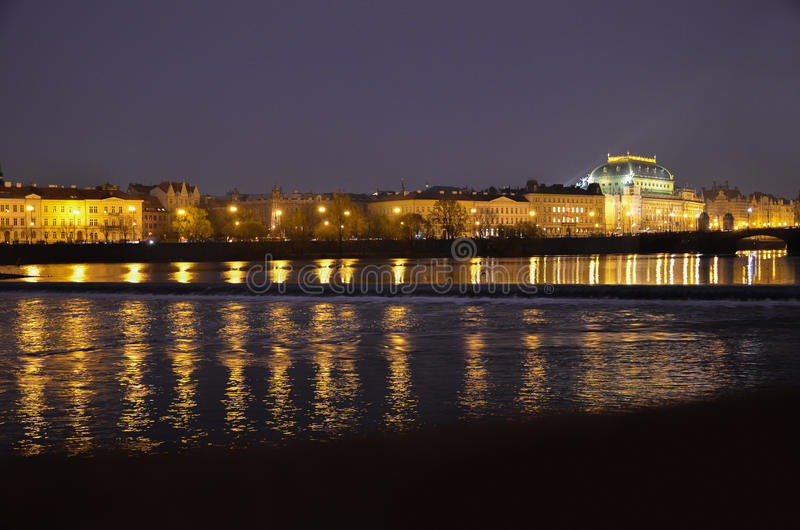 Vista di notte di Praga Repubblica ceca immagini stock libere da diritti
