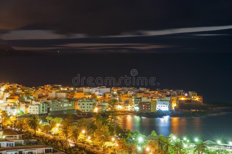 Vista di notte di Tenerife fotografia stock libera da diritti