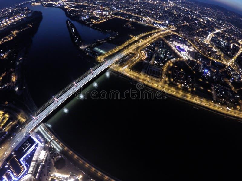Vista di notte su Budapest immagini stock libere da diritti