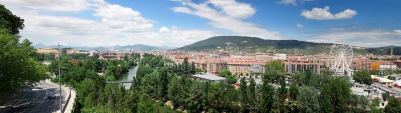 Vista di nuove regioni residenziali di Pamplona immagini stock libere da diritti