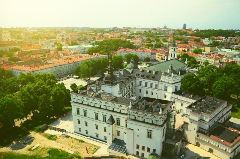 Vista di occhio dell'uccello di Vilnius fotografia stock libera da diritti