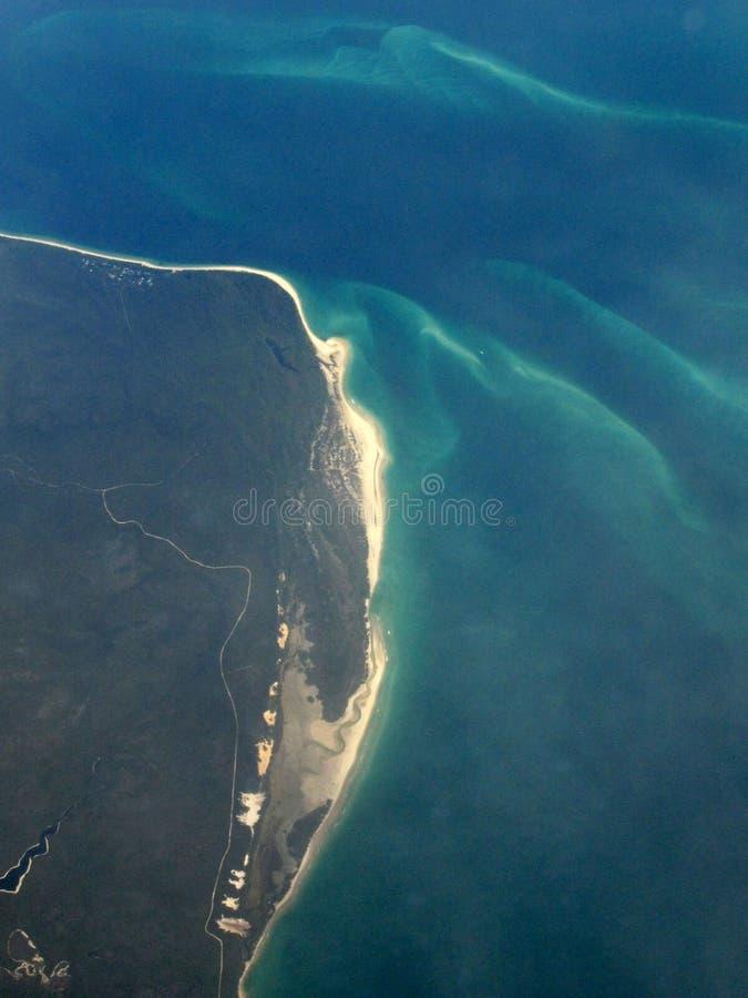 Vista di occhio di uccelli - isola di Fraser, Unesco, Australia immagini stock libere da diritti