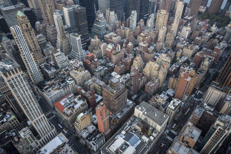 Vista di occhio di uccelli di New York City immagini stock