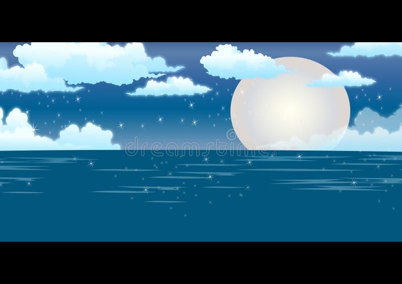 Vista di oceano illustrazione vettoriale