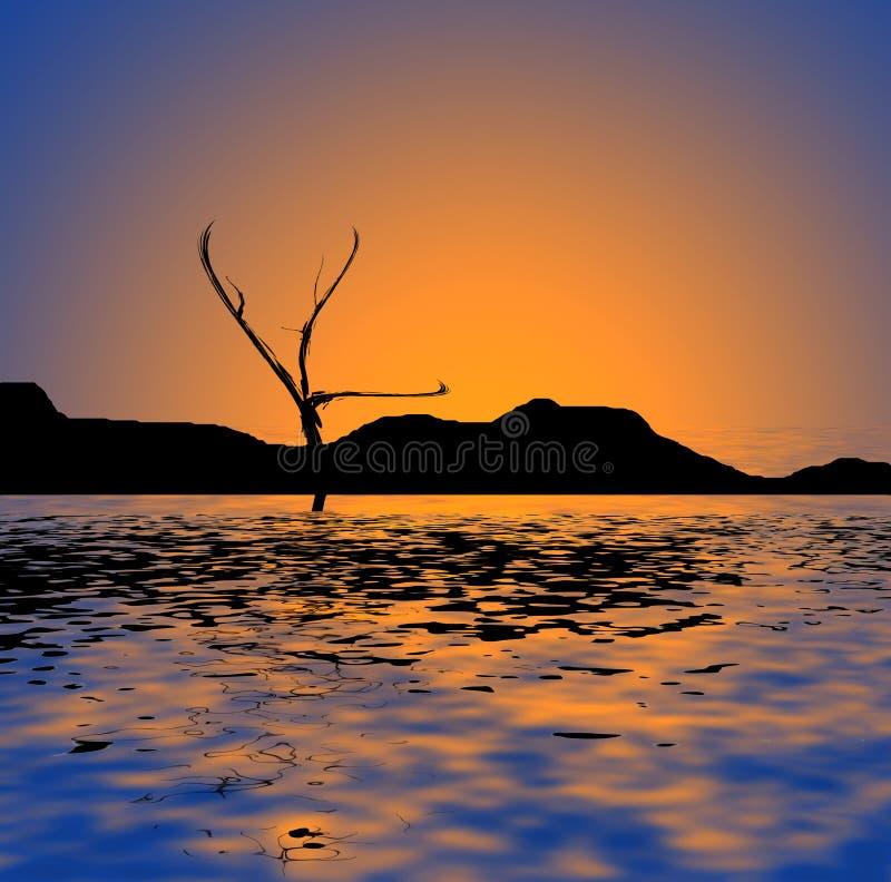 Vista di oceano del puntello fotografie stock libere da diritti