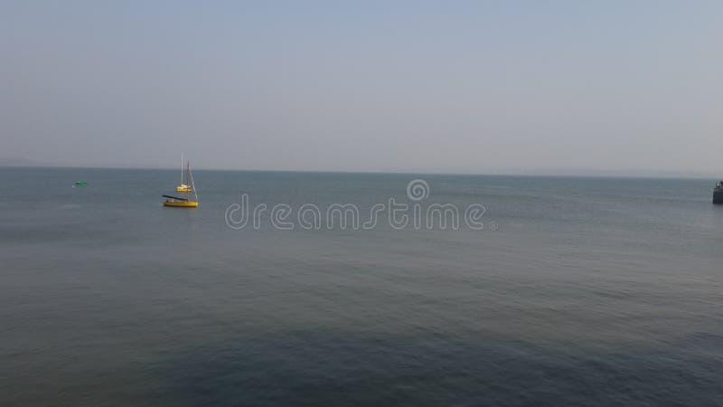 Vista di oceano di Goa fotografia stock