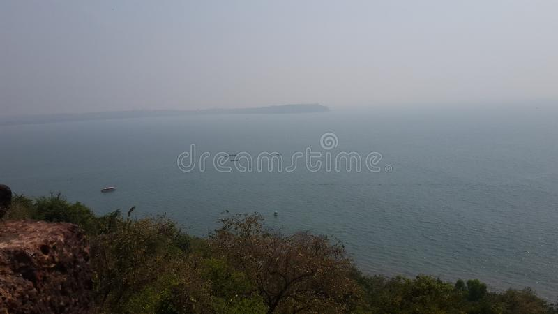 Vista di oceano di Goa immagini stock libere da diritti
