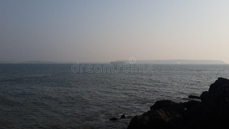 Vista di oceano di Goa immagine stock
