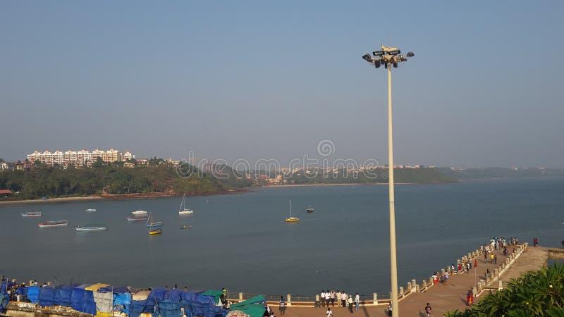 Vista di oceano di Goa fotografie stock libere da diritti