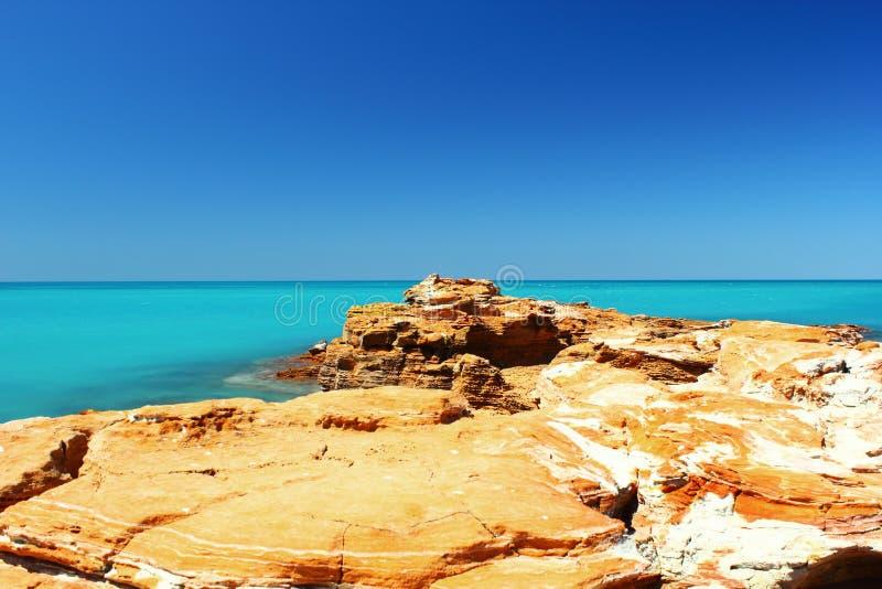 Vista di Oceano Indiano vicino al molo, Broome, Australia immagine stock libera da diritti