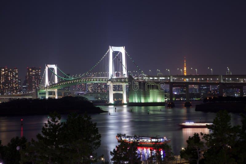Vista di Odaiba-notte immagine stock