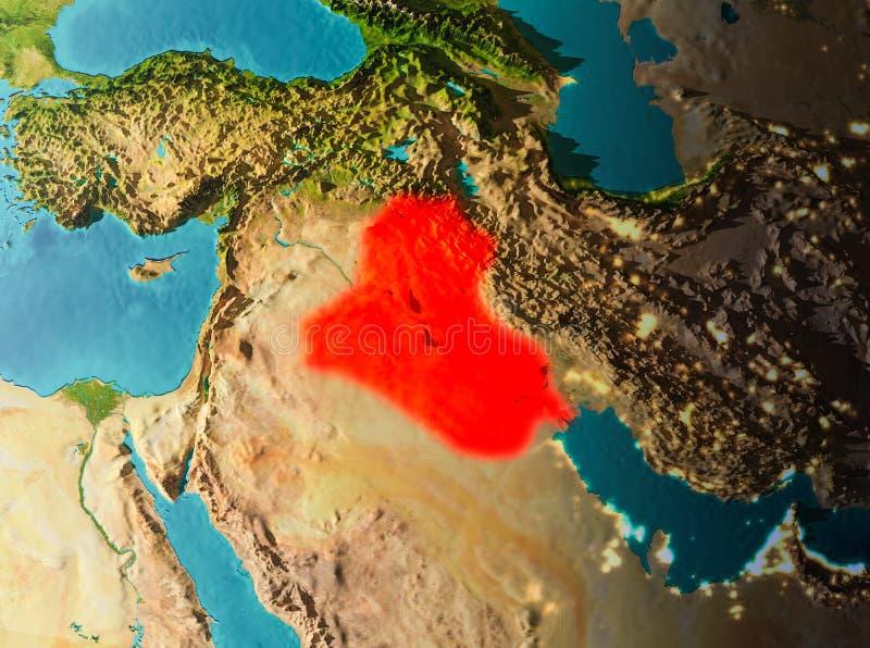 Vista di orbita dell'Irak royalty illustrazione gratis
