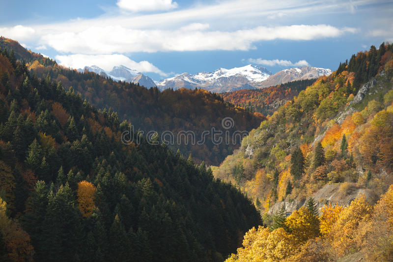 Vista di paesaggio di Mavrovo fotografie stock