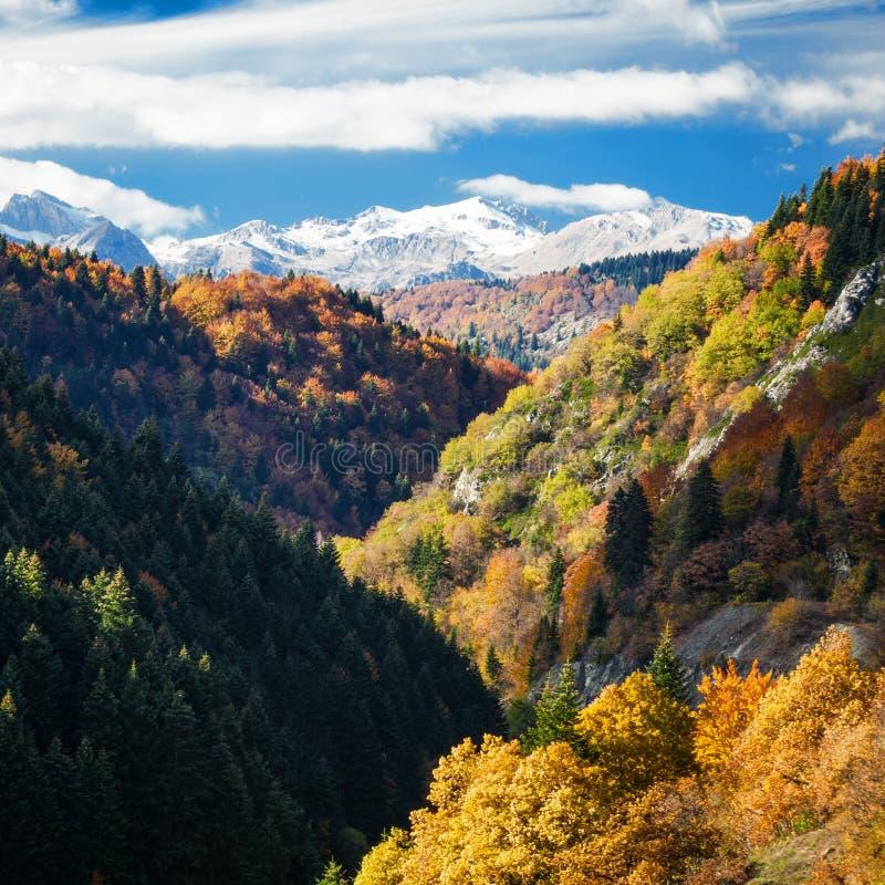 Vista di paesaggio di Mavrovo fotografia stock