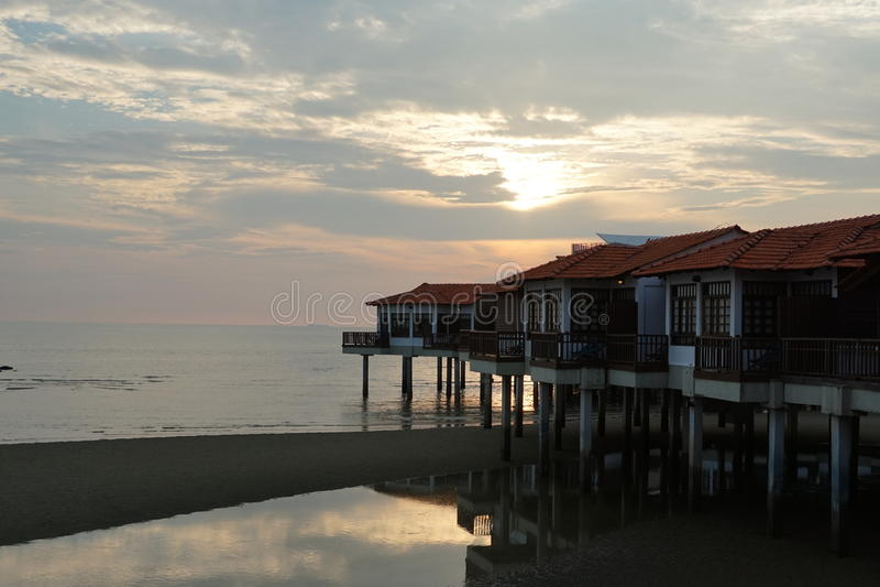 Vista di paesaggio di tramonto immagine stock