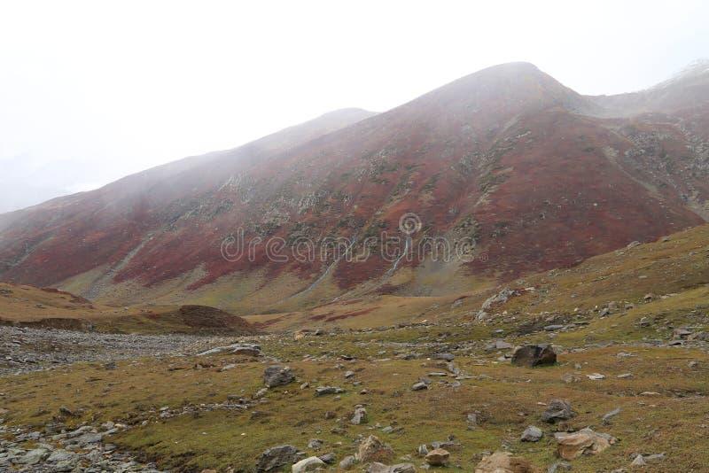 Vista di paesaggio sulla montagna immagini stock libere da diritti