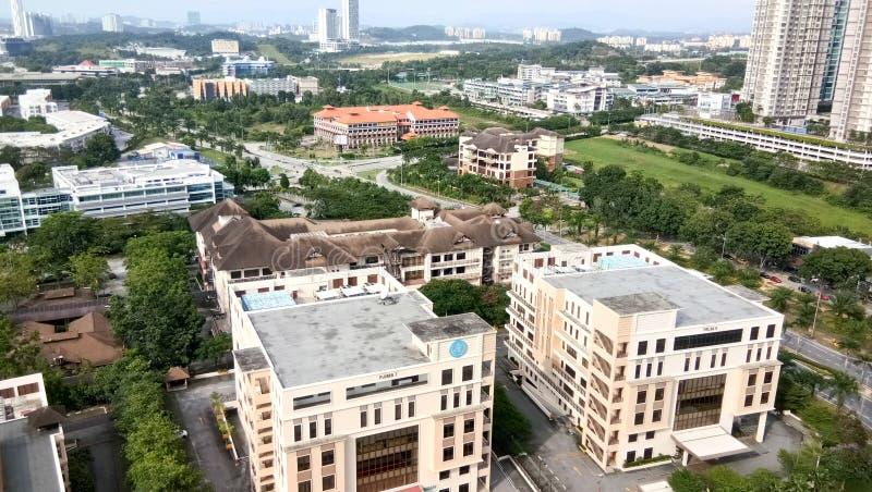 Vista di paesaggio urbano alla città di cyberjaya, fotografia stock