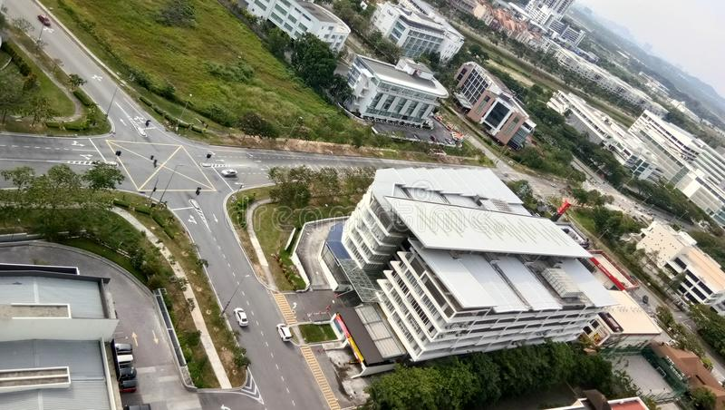 Vista di paesaggio urbano da costruzione immagine stock libera da diritti