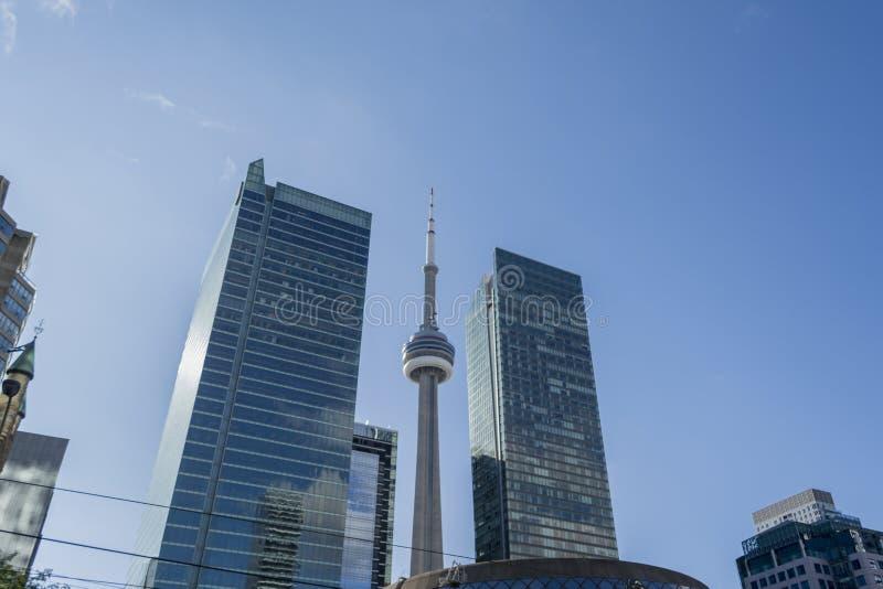Vista di paesaggio urbano di Toronto dentro in città immagine stock