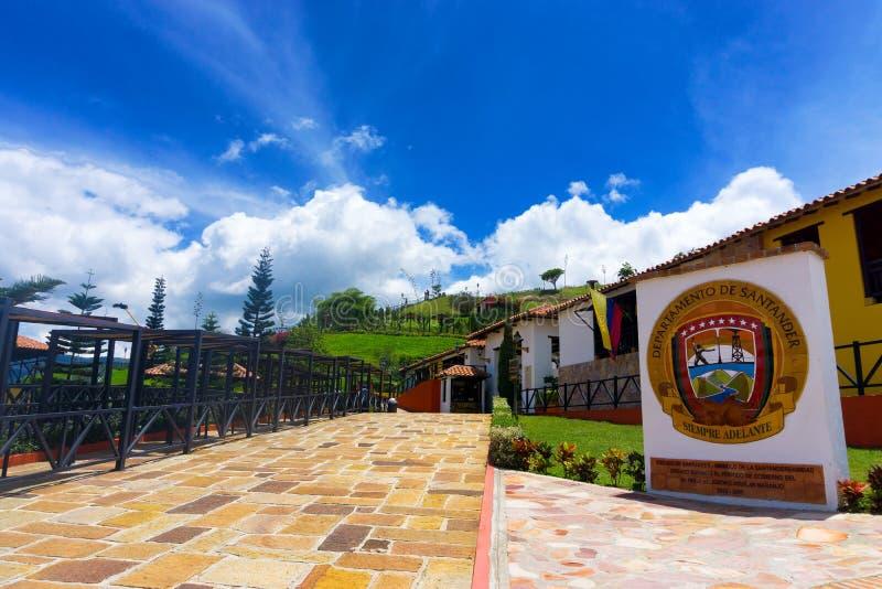 Vista di Panachi in Colombia fotografie stock