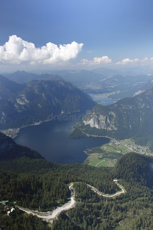Vista di panorama alpino fotografia stock