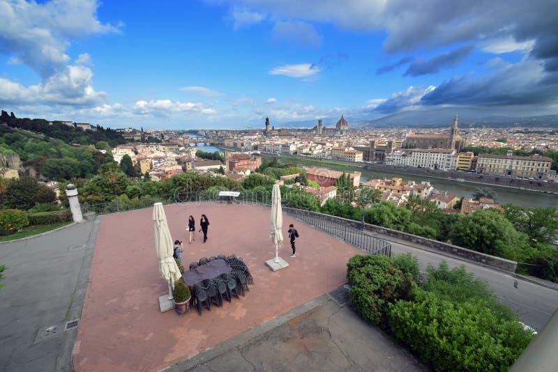 Vista di panorama da sopra della città di Firenze immagine stock