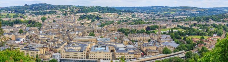 Vista di panorama della città del bagno fotografia stock libera da diritti